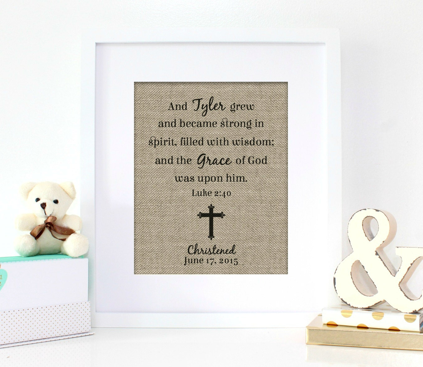 Baby Gift With Name : New baby gift name sign christening gifts baptism