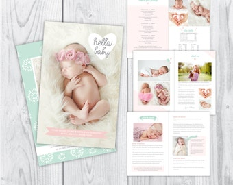 newborn magazine template, photography magazine template, magazine template, photography welcome magazine, photography welcome guide