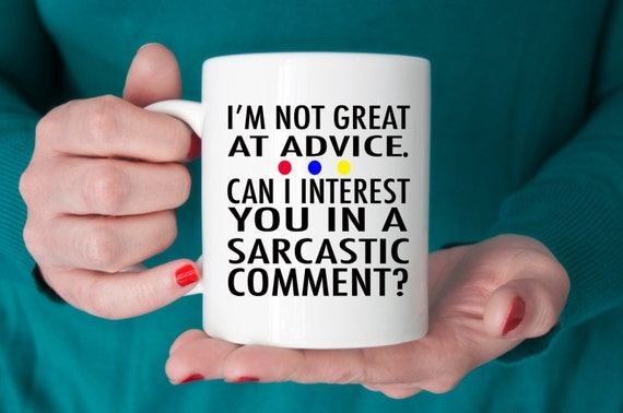 FRIENDS TV Show Mug | Can I Interest You in a Sarcastic Comment? | Friends Fan Gift | Message Mugs | 11 oz.