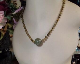 Brown garnet necklace