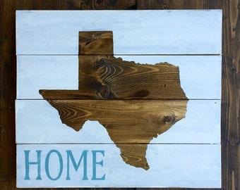 Custom Texas sign, Custom wooden sign, Wooden sign, Rustic decor