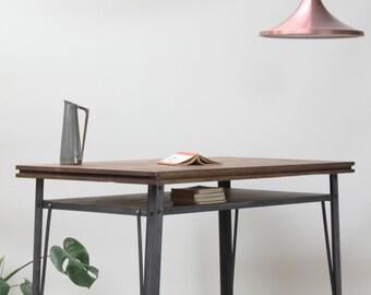 KONK! - Industrial Style Oak/Steel Desk , Kitchen Table [Bespoke sizes available!] Table, Writing desk