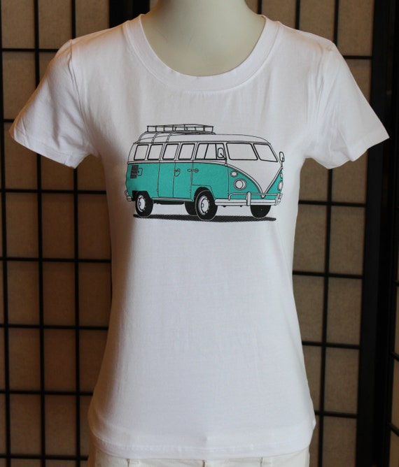 vw bus t shirt vw bus shirt for women fitted t shirt for. Black Bedroom Furniture Sets. Home Design Ideas