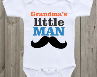 Grandma's/Mom's Little Man baby onesie Baby boy onesie Baby boy clothing Baby boy outfit Newborn outfit Baby Shower Gift
