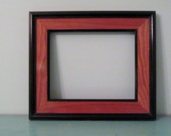 Picture Frame, Photo Frame, Art Gallery Frame, Cherry, Black Accents