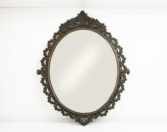 Antique Italian Mirror Ornate Mirror Antique wall mirror Antique mirror Vintage mirror Italian mirror Antique brass mirror Metal wall mirror