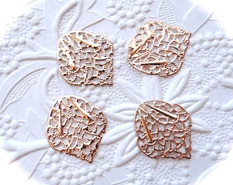 4 Gold Filigree Stamping Jewelry Supplies RB-154