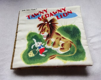 Cloth Book, Quiet Book, Tawny Scrawny Lion Cloth Book, Washable Cloth Book, Childs First Book, Child's Birthday Gift, Baby Gift