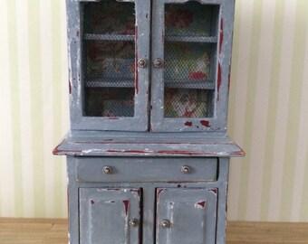 Dollhouse Miniature Shabby Cupboard