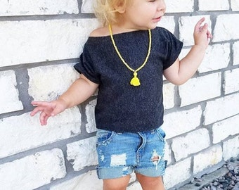 """Girls Distressed Shorts, Vintage Wash // Baby/Toddler Distressed Shorts // """"Locals Only"""" Shorties // Denim Cutoffs or Cuffed // Cute Shorts"""