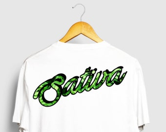 Awesome Sativa Black Or White T-Shirt For Hipsters, Stoners, and Hippies