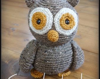 Crochet Owl softie / Toutou Hibou