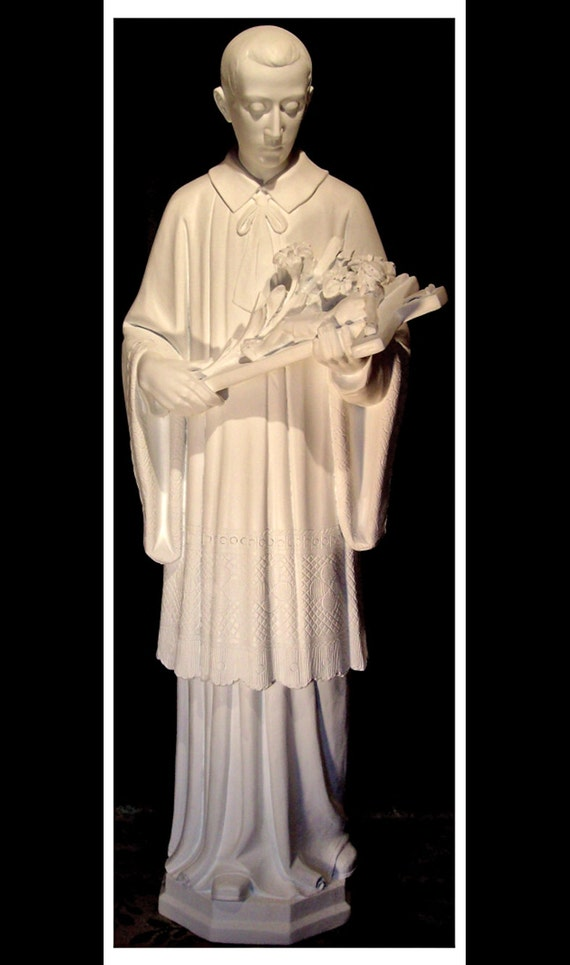 "St. Aloysius Gonzaga Fiberglass 42"" Catholic Christian Religious Statue"