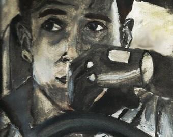 Drive print (Ryan Gosling) (A4 size)