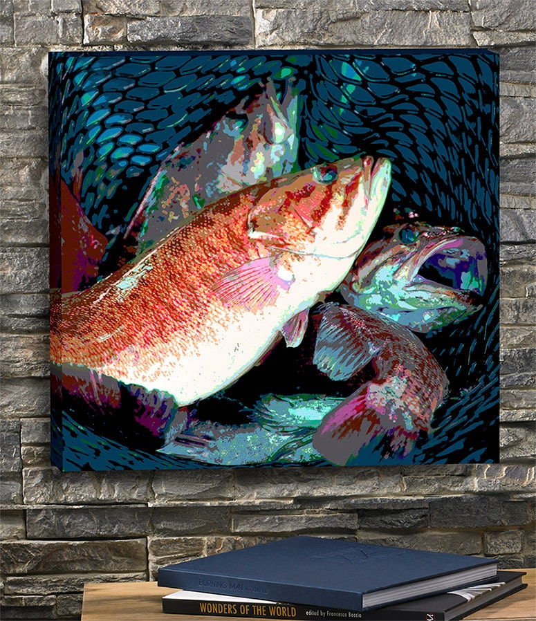 Smallmouth Bass Fishing Art Fishing Wall Decor Great Gift