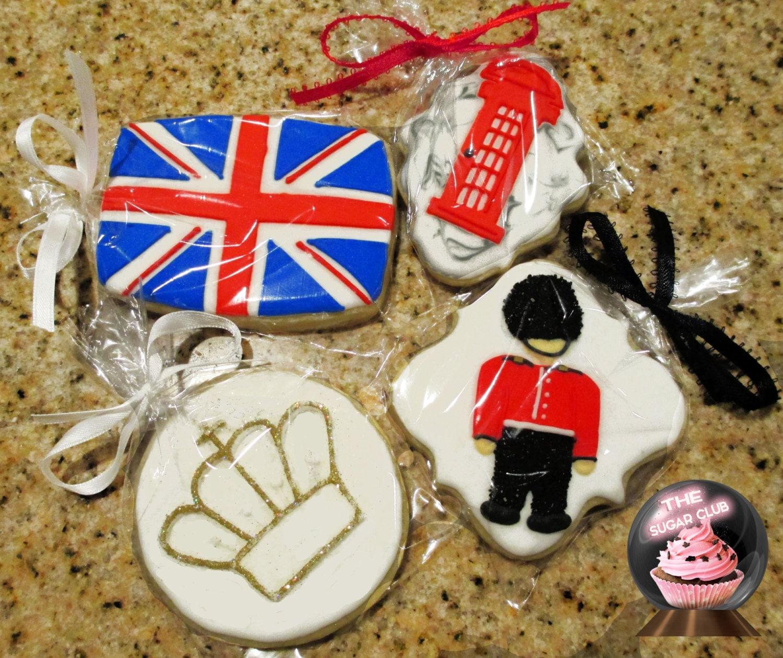 London Gifts British Cookies British Birthday By TheSugarClub