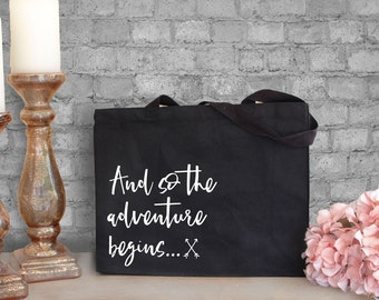 And So The Adventure Begins - Engagement Tote - Engaged Gifts for Her - Newly Engaged Gifts - Newly Engaged Tote Bag - Engagement Gifts