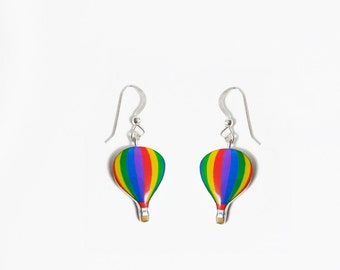 Hot air balloon dangle Earrings