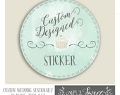 Wedding favor tag   MADE TO ORDER custom design service you choose fonts, colors, and style. Printable pdf file