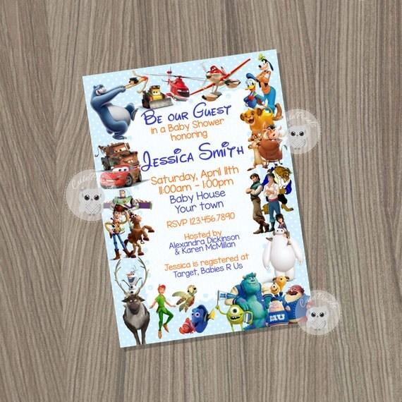 Baby shower Invitation for Boys Disney Baby Shower Baby boy