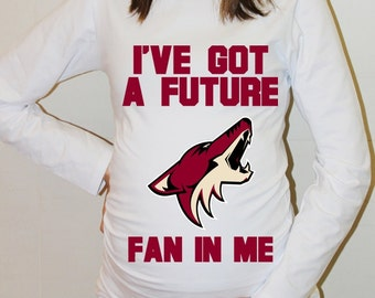 Arizona Coyotes Baby Arizona Coyotes Shirt Long Sleeved Women Maternity Shirt Funny Pregnancy Pregnancy Shirts Pregnancy Clothing