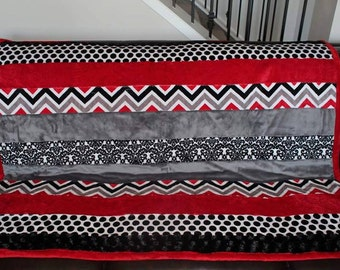 Minky patchwork quilt