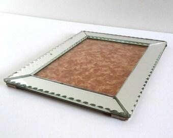 Vintage Beveled Mirror Clip-Frame - French Retro 50s Photo Frame