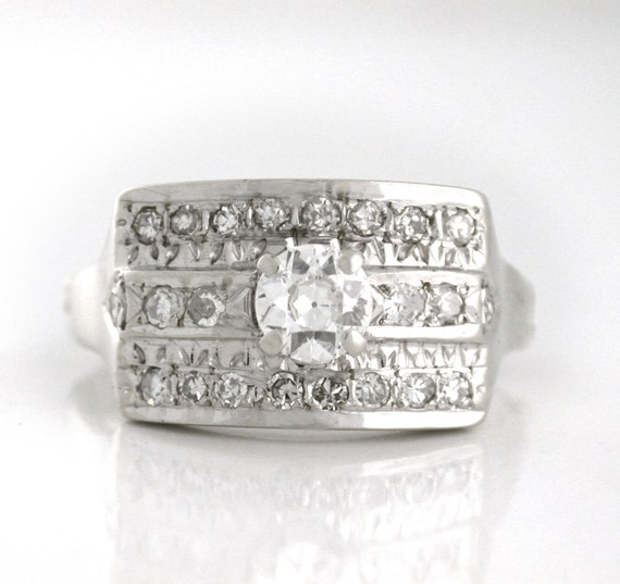 Outstanding Knuckle Adjust .95tcw Diamond Ring - Right Hand Ring, Anniversary Ring