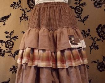 "Maxi skirt.Boho skirt.""Cinderella 2"". Многослойная юбка в пол."