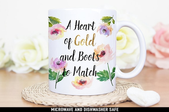 Coffee Mug Harry Styles A Heart of Gold and Boots to Match Floral Coffee Cup