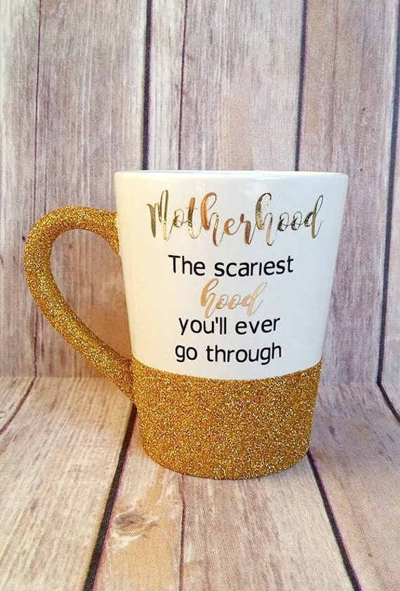 Motherhood Humor Glitter Mug-Custom Mug-Mom Mug- Glitter Mug-Coffee Cup-Glitter Coffee Cup-Gifts for mom- Funny mom- Funny Mug