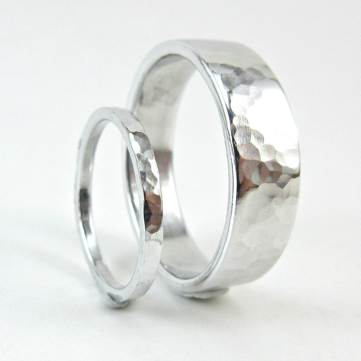 Platinum his and hers wedding rings wedding bands his -  Zoom