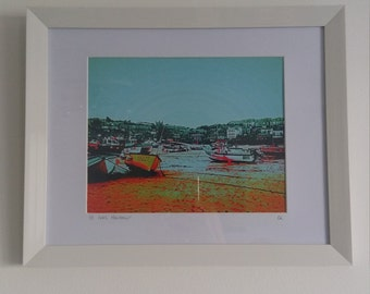 St ives cornwall. Unique digital photograph print. Made in cornwall