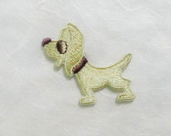 Dog Iron On Patch (S1) -  Dog cute Applique Embroidered Iron on Patch Size 3.8x4.1 cm #2