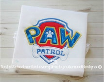 Paw Patrol machine embroidery design file, in 7 formats Instant download applique 2 sizes 4x4 5x7