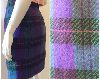 Doncaster Plaid 100%Wool Mini Skirt