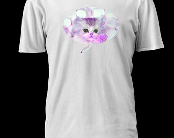 Marshmallow Kitten Word Bubble T-Shirt