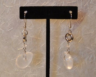 Silver And Clear Dangles Earrings
