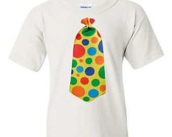 Adult Clown Shirt, Funny Clown Tie Shirt for Adults