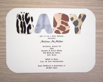 Jungle Safari Invitation