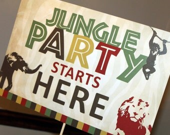 Safari Birthday Party Yard Sign, Jungle Birthday Yard Sign, Zoo Birthday Yard Sign