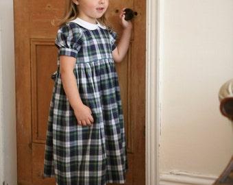 Girl's Traditional Brushed Cotton Tartan Dress