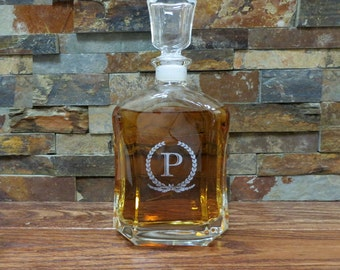Personalized Whiskey Decanter - Liquor Bottle - Groomsmen Gift- Best Man Gift- Groomsman - Gifts for Men - Grandfather