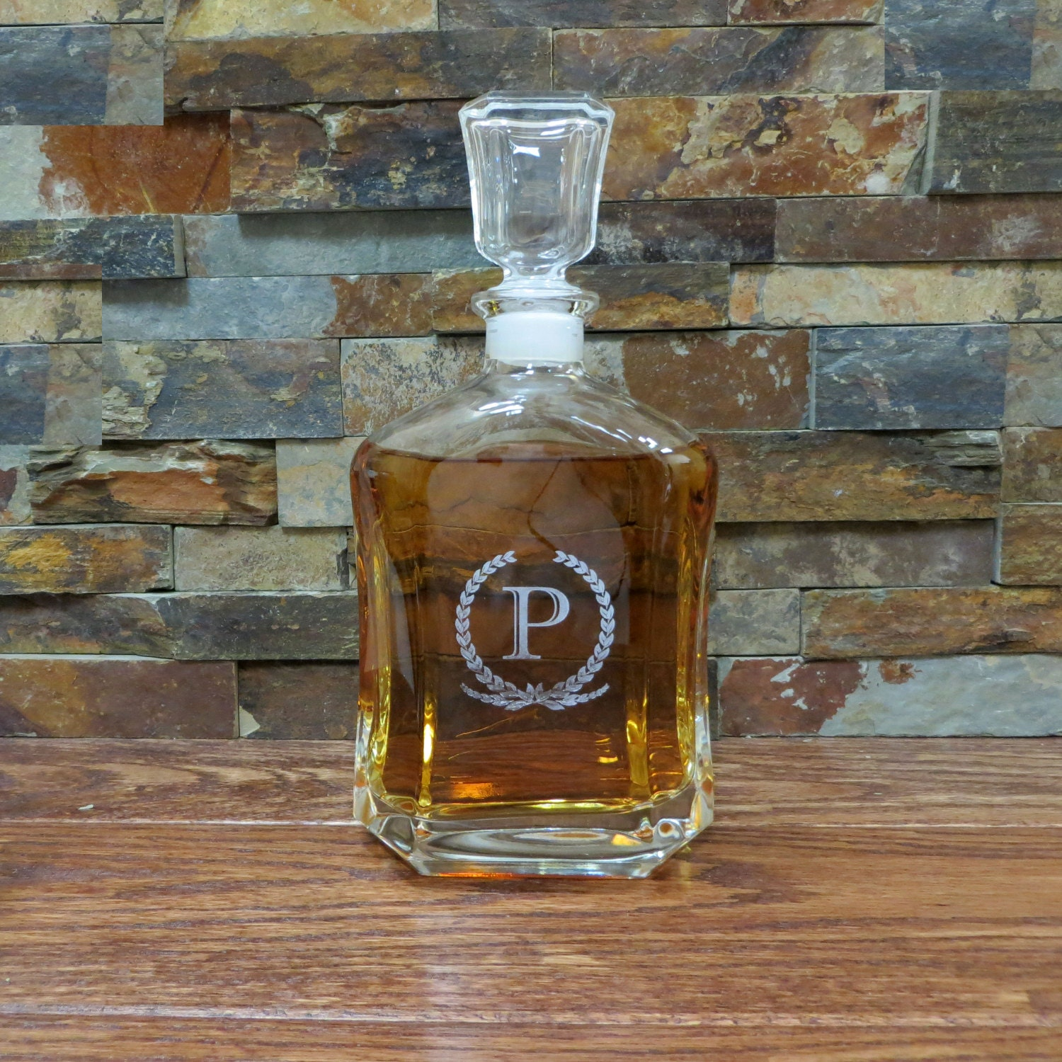 Personalized whiskey decanter liquor bottle groomsmen for Custom liquor bottles
