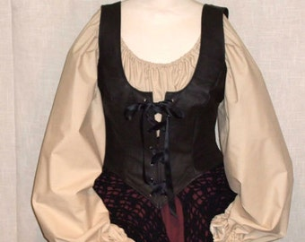 Medieval blouse  - pirate blouse - victorian blouse - larp blouse - steampunk blouse - medieval dress -