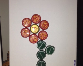 beer bottle cap picture the flower