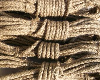Sibari/Kinbaku complete kit.4ropes.2/15 and 2/30 feet. 6 mm diameter of the rope.100%natural hemp rope.Low price.Great deal.
