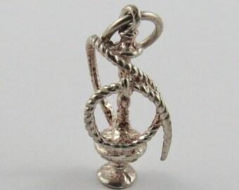 Hookah Sterling Silver Vintage Charm For Bracelet