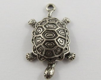 Sea Turtle Sterling Silver Vintage Charm For Bracelet
