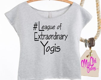 "Instagram Yoga Crop Top Celebrating the ""IgYoga"" Community #leagueofextraordinaryyogis Raw Edged in Heather Grey or Black. Instagram Hashtag"